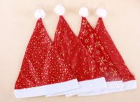 christmas fabric - EMS DHL Fast Baby Kids Christmas Hat Pleuche Children Fabrics Hats Santa Caps MERRY CHRISTMAS SANTA CLAUS HAT CAP Red J2544