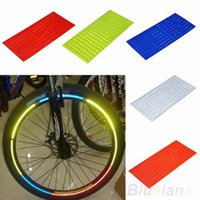 Wholesale Fluorescent MTB Bike Bicycle Sticker Cycling Wheel Rim Reflective Stickers Decal for Outdoor Sports Accessories K6S