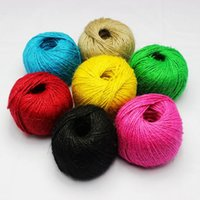 Wholesale Colored Jute Twine100m Ply Decorative Handmade Accessory Hemp Rope bakers Twine Mix color M