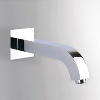 bath accessories set chrome - Modern Water Spout Mouth Pipe Connector Solid Brass Chrome Polished In Wall Bathroom Shower Set Bath Toilet Faucet Accessories