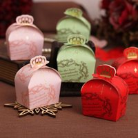 Cheap Brand New Crown Shape Heart Wedding Favor Boxes Elegant Wedding Candy Box Party Favor box Bride and groom Wedding favor box