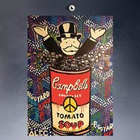 abstract huge wall art - ALEC MONOPOLY HUGE Campbell canvas print POP ART Giclee poster print on canvas for wall decoration painting