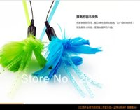 Wholesale Crystal Clear Feathers Flowers Series Bell Sucker Rod Funny Cat Stick Cat Toys