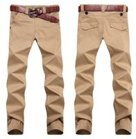 Cheap Free shipping! 2014 New straight trousers Men's Casual pants khaki army green  black big size 28~36 38 40 42 44 46 cargo item