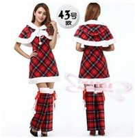 Wholesale 2015 new Christmas clothes Christmas party girl uniforms adult Christmas clothes Christmas girl mascot