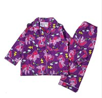 fashion pajamas - 2015 My little pony clothes girls clothing sets suits kids pajamas children piece sleepwear home fashion set DHL in stock