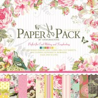 bathroom border - 12 quot x12 quot PAPER PACK Vintage Flowers Scrapbooking Craft Paper Pad Alphabets Borders Tags and Icons