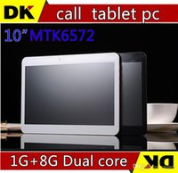 Cheap HOT! New 10 inch MTK6572 3G phone call tablet pc Dual core camera SIM card 1G+8G Andriod4.2 GPS Bluetooth free shipping!discount 5PCS