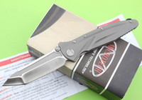 Cheap Wildboar Microtech SOCOM D2 TANTO Blade Folding knife DELTA Force TC4 titanium Tactical camping survival knives EDC outdoor tool