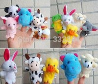 Cheap Free Shipping 15PCS Lot Baby Plush Toy Finger Puppets Tell Story Props(10 Animal Group)Animal Doll  Kids Toys Children Gift BP53 order<$18no