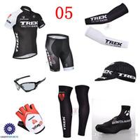 trek - 2014 Trek Cycling Jerseys Arm Warmer Leg Warmer Gloves Cap Cycling Sunglasses Bicycle Wear Size XS XL Ultra Breathable Bike Wear