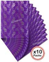 african head tie wholesale - 10 packs SEGO headtie African gele Ipele Wrapper Head Tie Purple