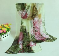 amazon scarves - Hot on Amazon New Special Chiffon Scarf For Women Big Peony Flower Pattern Scarves Outdoor Anti sun Mix