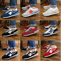 leather shoes for women - New arrival Balance casual sport shoes for men women Sneaker Lovers shoes Running Jogging shoes size High quality