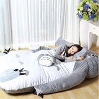 big bag filling machine - Big sofa Soft Cartoon Bed Totoro Double Sleeping Bed Sleeping Bag Pad Filling Stuffed Plush Tatami Big Large Size Toy Doll