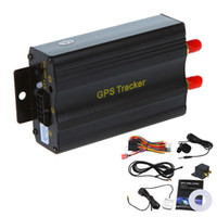 acc autos - GSM GPRS Tracking Vehicle Car GPS Tracker TK103A GPS103A Real Time Tracker Door Shock Sensor ACC Alarm