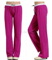 Cheap HQ Sports Home Loose Sweat Pants Women Lady Elastic Waist Cotton Trousers