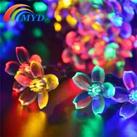 garden angels - 50leds Peach Blossom Decoration Lamp Solar LED String Garden Lights