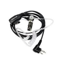 radio earpiece - New Pin Noise Reduction Covert Acoustic Tube Earpiece for Motorola Radio GP300 s PRO1150 Black C9025A