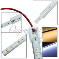 Wholesale 5pcs cm SMD Pure White Warm White Aluminium Rigid LED Hard Strip Bar Lights
