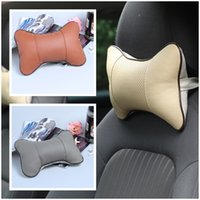 Wholesale 2pcs Car Seat Cushion Leather Neck Pillow Nice Car Interior Accessories Color Choose QBJ