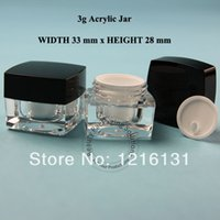 acrylic canisters - 3G Acrylic Cream Jar Plastic Cosmetic Container Makeup Canister Sample Mask Sub bottling Cosmetic Packaging