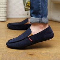 boat shoes - 2015 US6 Suede Leather Mens Comfort Loafer Slip on Mens Driving Car Shoes Men s Boat Shoes Driving Shoes Drop Wz05