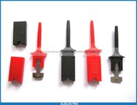 Wholesale 6 Flat Small Test Clip for Multimeter Red Black