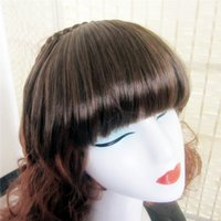 Wholesale New Fashion Girls Clip On Front Neat Bang Fringe Hair Extension Colors Blended Hair