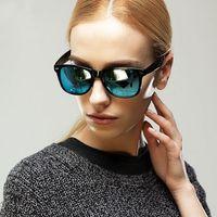 big green fish - Hot Women Men Lovers Fashion Yurt Sunglasses UV400 protection Summer Beach Glasses Outdoor Driving Fishing Travel Big Frame Eyewear