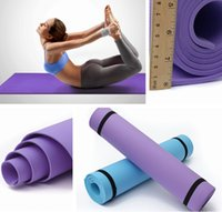 Wholesale Professional mm Non Slip EVA Yoga Mats Cushion Lose Weight Body Building Fitness Gymnastics Exercise Home Indoor