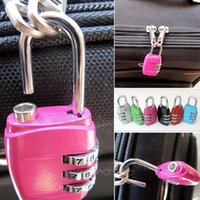 mini padlock - Mini Digit Metal Alloy Oval Code Number Lock Password Portable Resettable Combination Suitcase Padlock Luggage DHL FREE