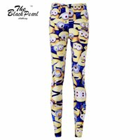 animations hot pants - Free ship New Hot Women Sport Pants Womens Trousers Fashion Minions Cartoon Animation Pant Capris Cute sportswear Fitness