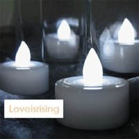 Wholesale High Quality White Color LED Candle Tea Light Flameles Lamp Wedding Party Decoration