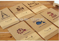 thank you cards - NEW Kraft Paper Greeting Cards Vintage Invitation Card For Event Wedding Party Thank You Card