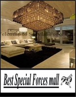 Cheap high quality modern crystal square ceiling chandelier lamp transparent water droplets