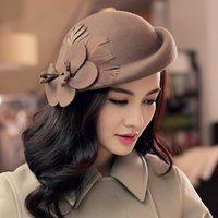 beret s - Winter Woolen Women S Wool Hats Elegant Hat Can Adjust The Size Of England Flowers Berets Fedora Hat Can Be Fixed