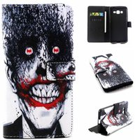 Wholesale Skull Galaxy Note Cases - Wallet Leather case Skull Owl TPU Card Money Stand Pouch Hope Belie For Samsung Galaxy Grand Prime G530 Core G360 J1 S6 EDGE S5 NOTE 5 Skin
