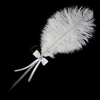 feather pen - New Fashion Wedding Favor Diamante Feather Pen for Bridal Decoration Product Supplies XSTZ YM YMB
