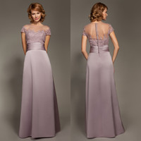 Wholesale Taylor Swift Chiffon Lace Applique Gown Zipper Short Sleeveless Crew Floor length Sheath Column Bridesmaid Dresses with Ribbon