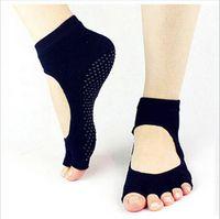 Wholesale High Quality Yoga Socks Toes Cotton Socks Exercise Sports Pilates Massage Sock