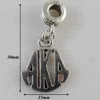alpha sales - Fashion Jewelry Charms a hot sale antique silver plated greek letter alpha AKA charms