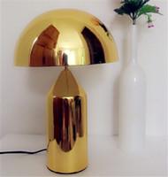 Wholesale Garden Minimalist Italian Style Mushroom Shape White Black Gold Table Lamp Living Room Bedroom Bedside Minimalist Desk Lamp