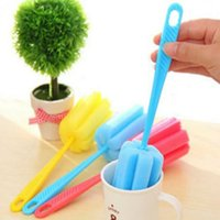 Wholesale Random Color X Sponge Glass Bottle Coffe Tea Cup Bowal Cleaner Kitchen Washing Brushes Cleaning Tools New