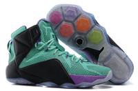 Wholesale 2015 Hot ebron Men Basketball Shoes LB Sneakers LBJ LB12 Sports Shoes Lebron Shoes LB Athletic Shoes Black Blue Purple Size US7