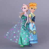 Wholesale 2016 New Fashion Princess Elsa Doll And Anna Dolls Frozen Fever Adorable Action Figures Dolls Kids Toy Hot Sale Baby Classic Toys CT50403