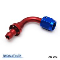 Wholesale TANSKY AN4 AN4 Degree Push On Fuel Hose End Car Fittings to Barb Adaptor AN4 B