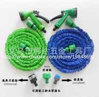flexible hose - Functional FT FT FT FT Flexible Garden Water Hose Spray Gun Car Wash Pipe Reel Expandable Universal Connector Blue Green
