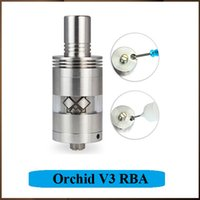 Wholesale Orchid V3 RBA Rebuidable Atomizer Orchid Clearomizer Huge Vapor VS Kayfun Kraken Clone Big Dripper RDA Channels for eGo E Cigs