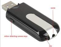 Wholesale Hot sale Spy Camera Mini HD DVR U8 Mini USB Disk Spy Camera DVR Motion Detect Camera by Singapore post